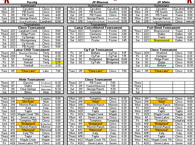 19-6A | Texas Highschool Baseball