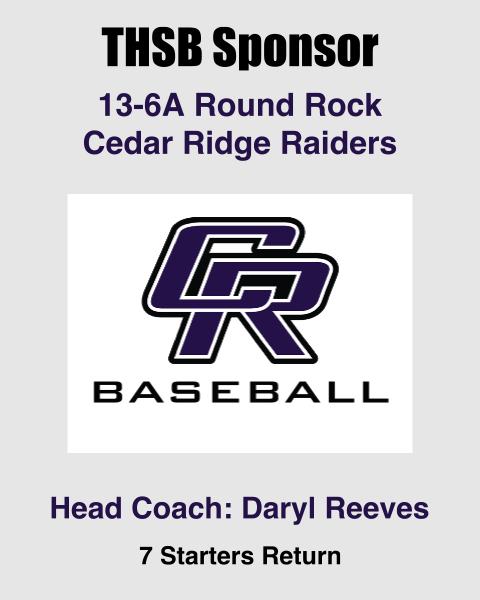 Cedar Ridge THSB Sponsor
